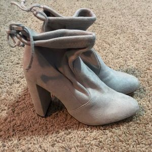 Forever 21 Light Gray Suede Booties